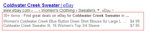 rich snippets ecommerce