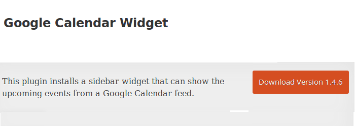 wordpress google calendar widget
